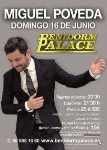 Concierto de Miguel Poveda en Benidorm Palace Junio 2013