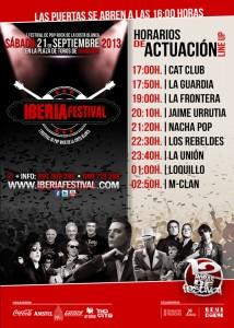 horario de actuacion iberia festival 2013