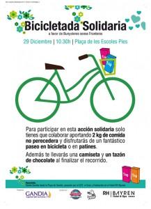bicicletada solidaria en gandia diciembre 2013