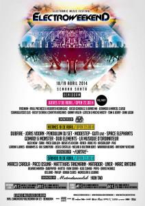 cartel de electro weekend benidorm 2014