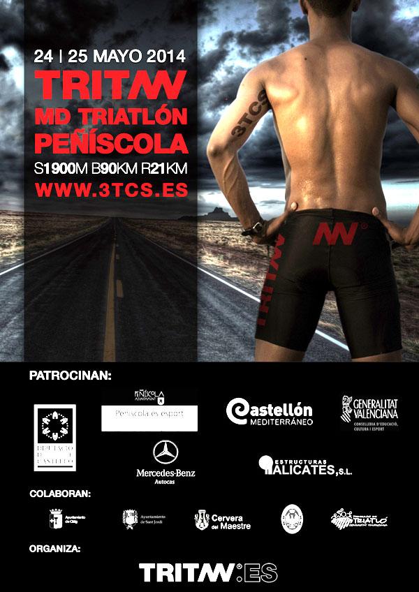 cartel triatlon md en peñiscola 2014