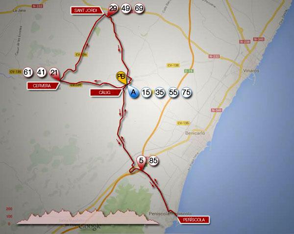 ruta en bici del triatlon Peñiscola