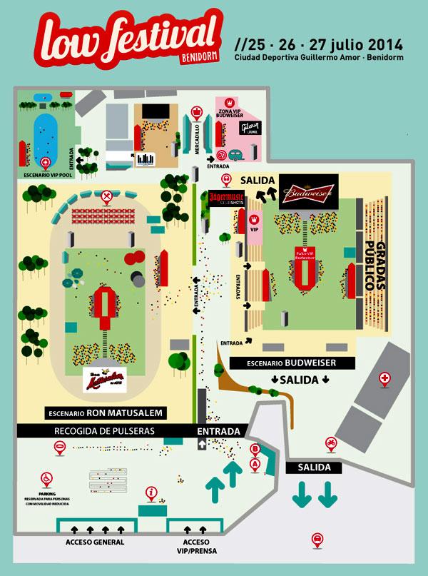 plano de recinto low cost festival 2014