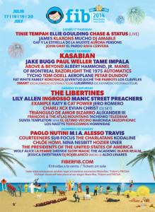 cartel oficial festival benicassim 2014