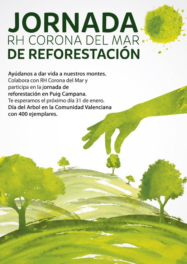 cartel reforestacion dia del arbol