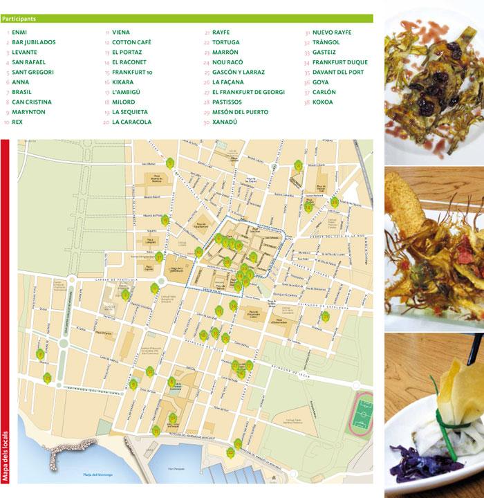 mapa de restaurantes en la carxofa de benicarlo