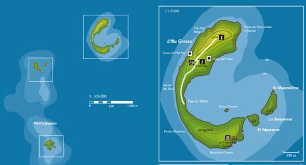 mapa isles columbretes