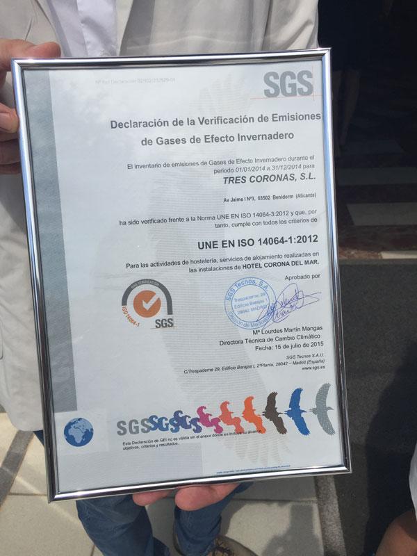 certificado medio ambiente en benidorm