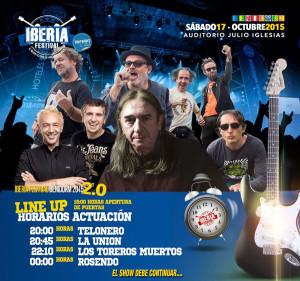 iberia festival en benidorm horarios