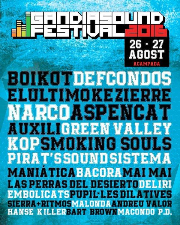 cartel gandia sound festival 2016