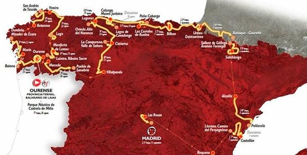 vuelta ciclista españa mapa 2016