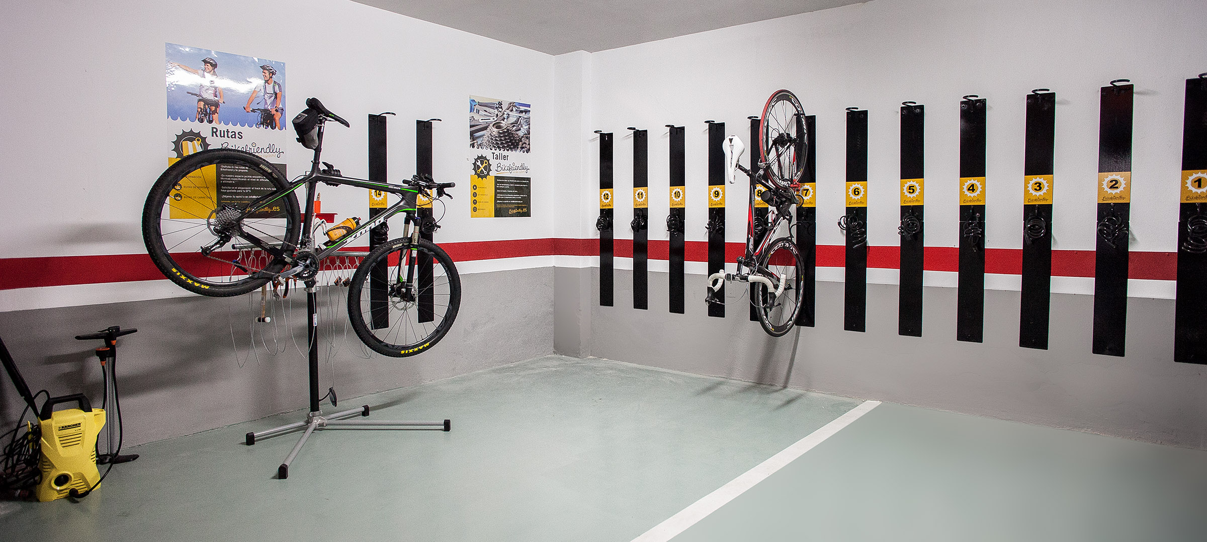 instalaciones ciclistas de hotel