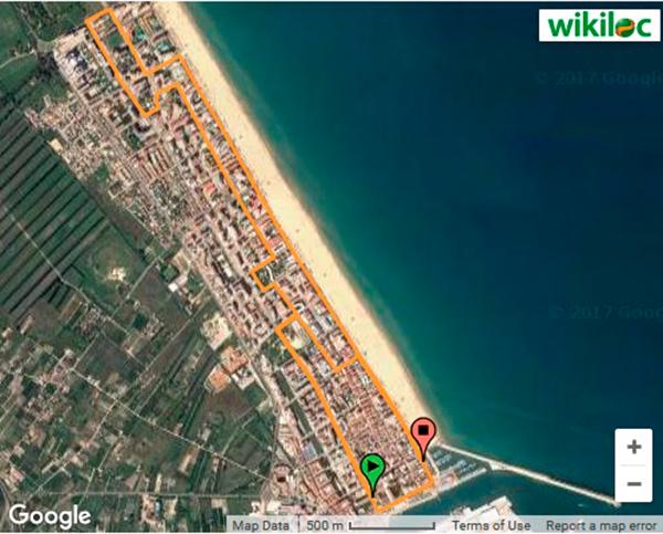 10km playa de gandia recorrido