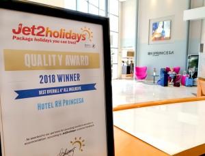 Premio Jet2 Hotel RH Princesa